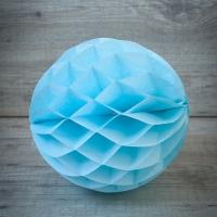 Bola de papel de nido de abeja. Azul. 30cm.