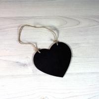 Pizarra con forma de corazón para colgar