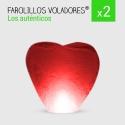 PROMOCIÓN. Pack 2 Farolillos de Corazón rojos.