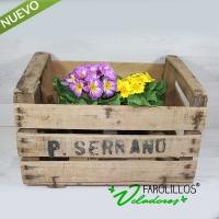 Caja de fruta de madera vintage