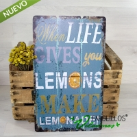 Cartel de madera Lemonade