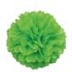 Pompón papel de seda verde