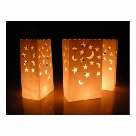 Bolsas de luz troquel estrella