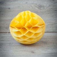 Bola de papel de nido de abeja. Amarilla. 30cm.