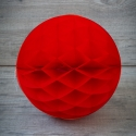 Bola de papel de nido de abeja. Roja. 30cm.