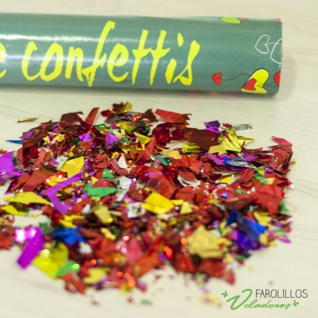 Cañón manual confetti 30cm