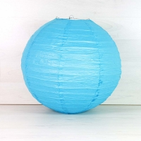 Farol/ámpara de papel Azul. 40 cm.