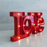LETRAS LUMINOSAS LOVE ROJAS