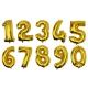 Globos metalizados números.