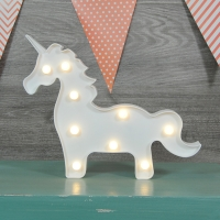 Lámpara unicornio con luz led.
