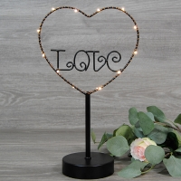 Soporte love con luces led