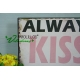 Placa de metal KISS